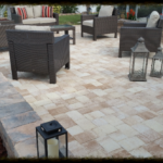 Beautiful Brick Paver Installation in Sarasota, FL outside of pool area