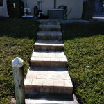 Stone Paver Installation walkway in Sarasota