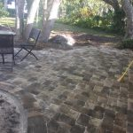 Paver Installation using stone pavers in Osprey